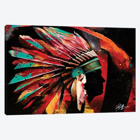 Chief Canvas Print #MGO71} by Michael Goldzweig Canvas Print