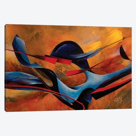 Whirling Dervish Full Canvas Print #MGO78} by Michael Goldzweig Art Print