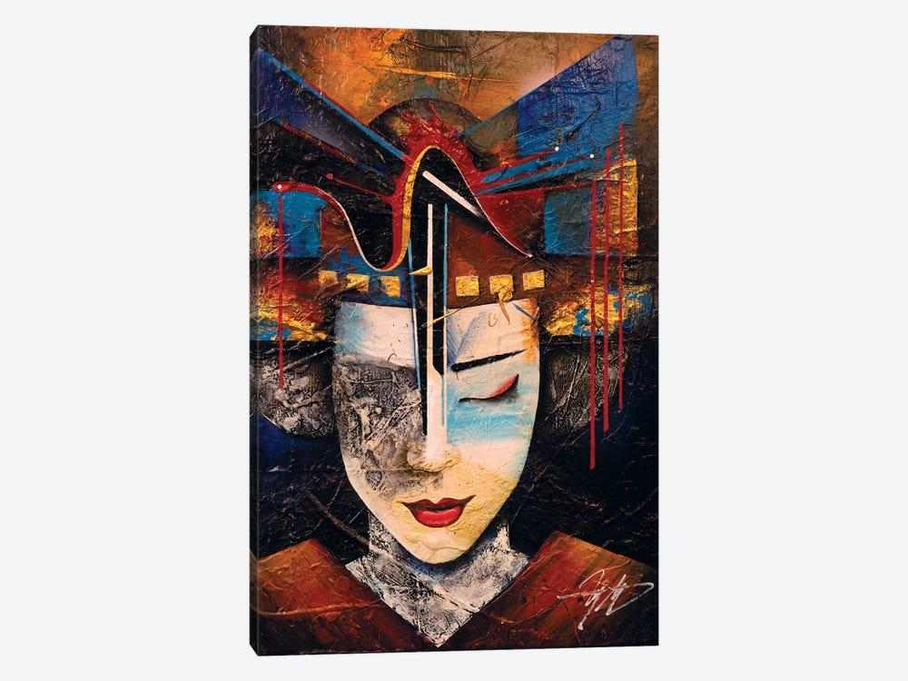Memories Of A Geisha by Michael Goldzweig 1-piece Canvas Art Print
