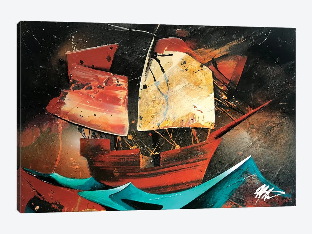 Boat by Michael Goldzweig 1-piece Canvas Print