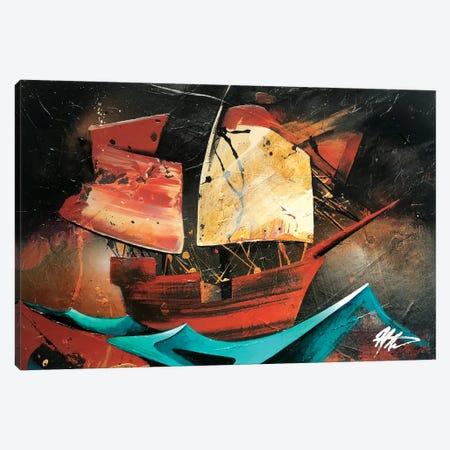 Boat Canvas Print #MGO82} by Michael Goldzweig Canvas Wall Art