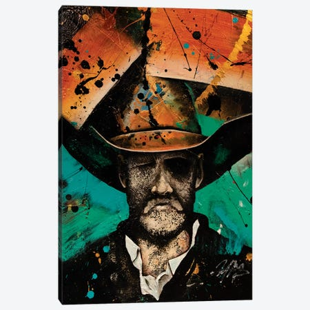 Cowboy Canvas Print #MGO83} by Michael Goldzweig Canvas Artwork