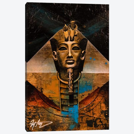The Golden Pharaoh 3-Piece Canvas #MGO84} by Michael Goldzweig Canvas Art Print