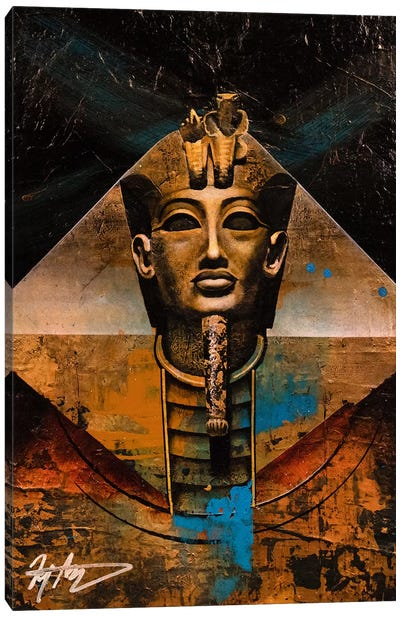 The Golden Pharaoh Canvas Art Print