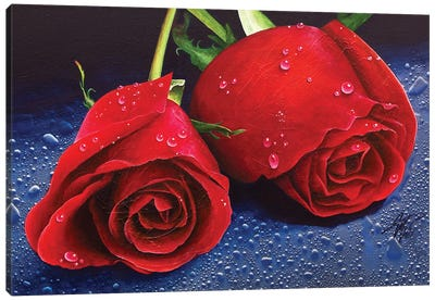 Two Roses Canvas Art Print