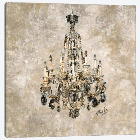 Champagne Chandelier Canvas Print #MGW1} by Marta G. Wiley Canvas Print
