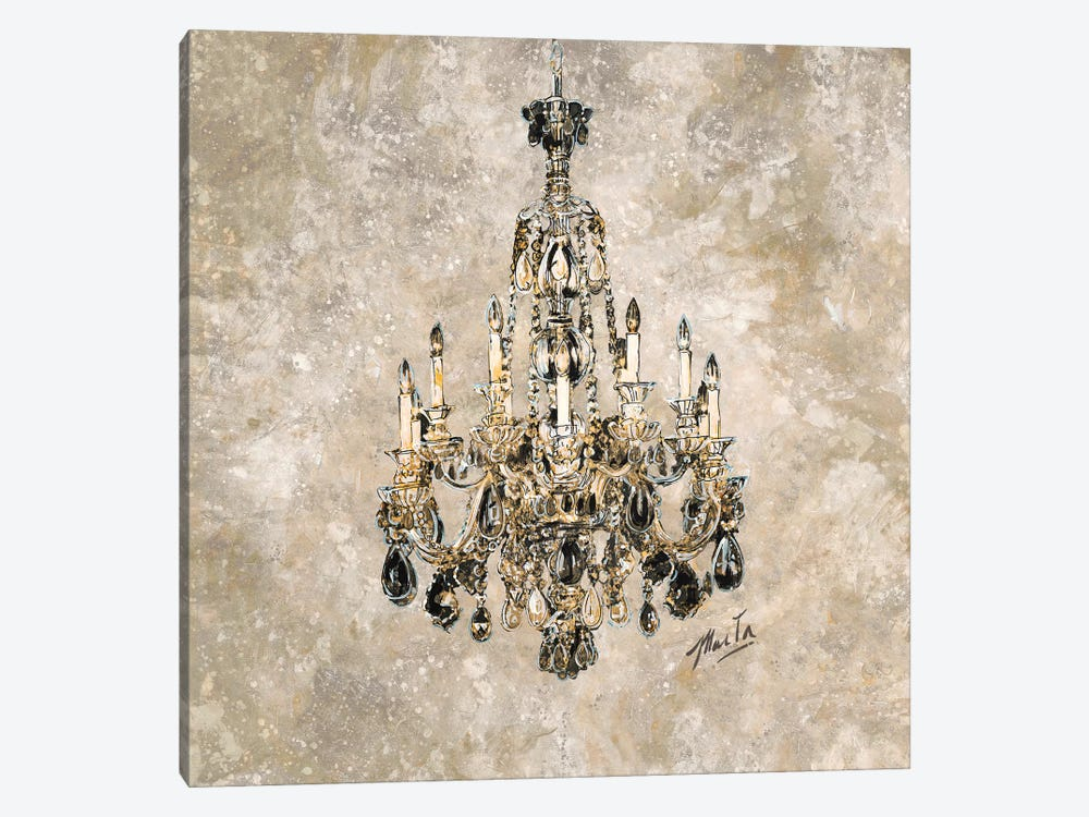 Champagne Chandelier by Marta G. Wiley 1-piece Canvas Print