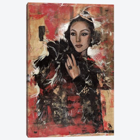 Vintage Goddess I Canvas Print #MGW4} by Marta G. Wiley Canvas Wall Art