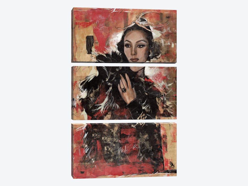 Vintage Goddess I by Marta G. Wiley 3-piece Canvas Art