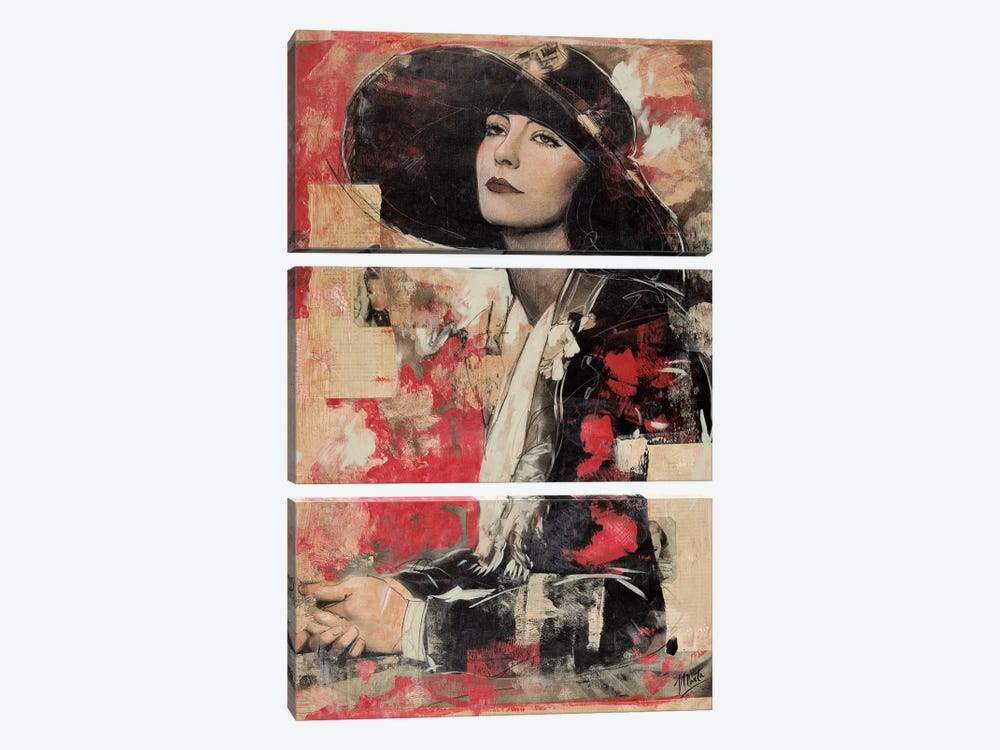 Vintage Goddess II by Marta G. Wiley 3-piece Canvas Print