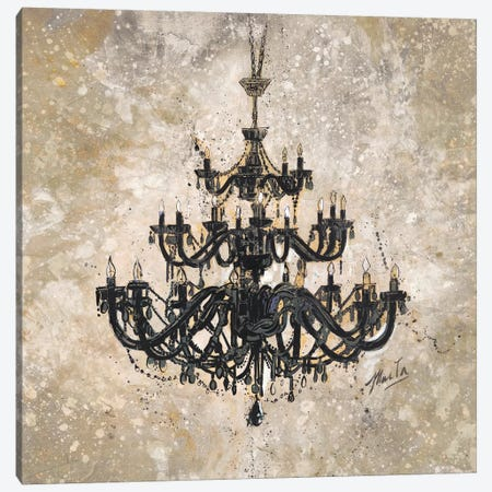 Onyx Chandelier 3-Piece Canvas #MGW6} by Marta G. Wiley Canvas Art