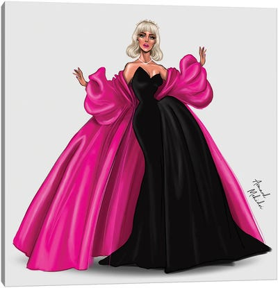 Lady Gaga, The Met Ball 2019 Canvas Art Print
