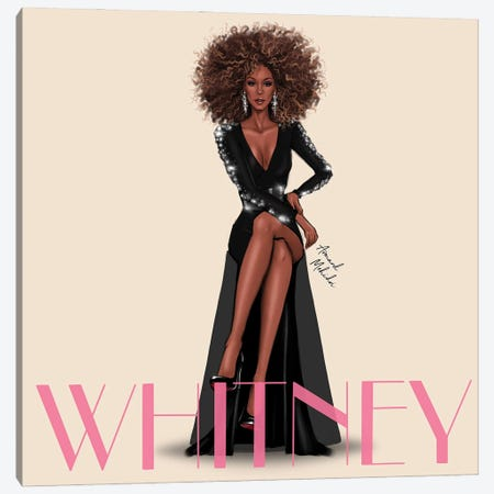 Whitney Houston Canvas Print #MHD20} by Armand Mehidri Canvas Print
