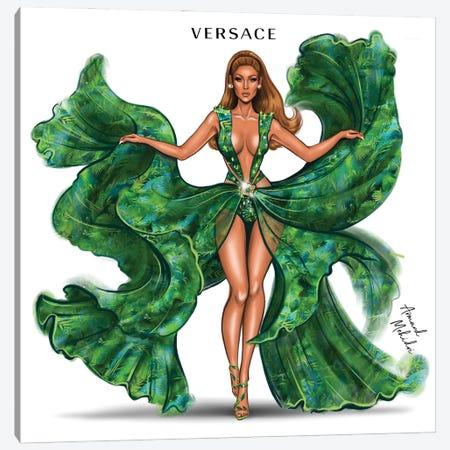 J.Lo Versace Canvas Print #MHD24} by Armand Mehidri Canvas Art
