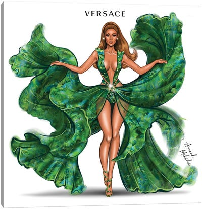 J.Lo Versace Canvas Art Print