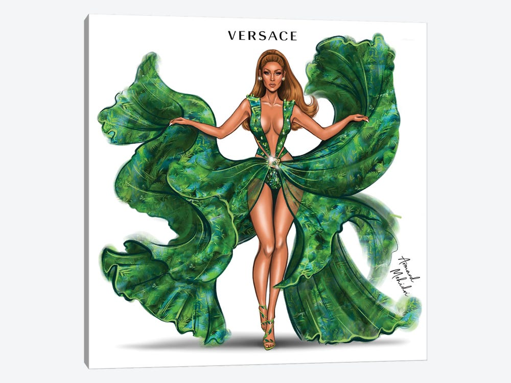 J.Lo Versace by Armand Mehidri 1-piece Canvas Print