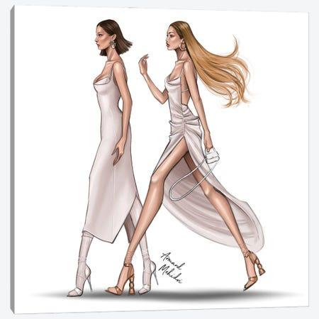 Gigi & Bella Hadid Canvas Print #MHD33} by Armand Mehidri Canvas Wall Art