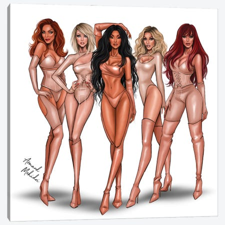 The Pussycat Dolls Canvas Print #MHD36} by Armand Mehidri Canvas Print