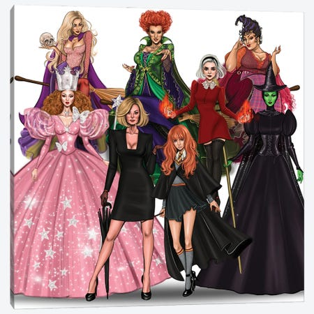 Witches Collection Canvas Print #MHD3} by Armand Mehidri Canvas Art