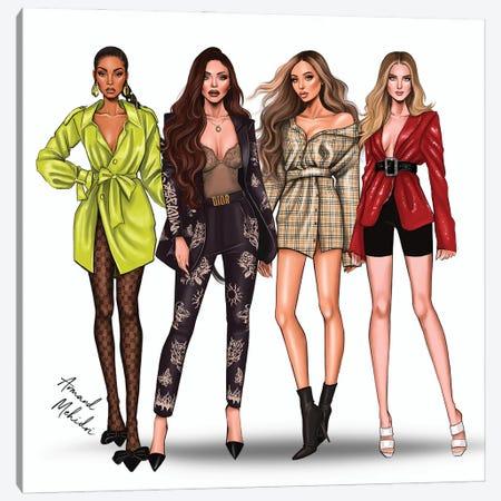 Little Mix Canvas Print #MHD40} by Armand Mehidri Canvas Art Print