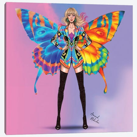 Taylor Swift, Lover Canvas Print #MHD4} by Armand Mehidri Canvas Print