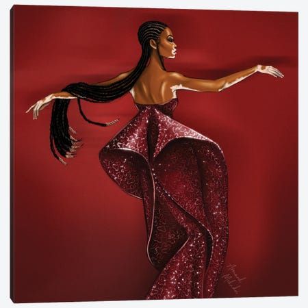 Winnie Harlow, Zac Posen Canvas Print #MHD59} by Armand Mehidri Canvas Wall Art