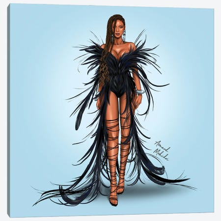 Beyonce, Black Is King Canvas Print #MHD60} by Armand Mehidri Art Print
