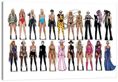 Lady Gaga Videography Canvas Art Print