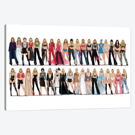 Britney Spears Videography Canvas Print #MHD62} by Armand Mehidri Canvas Print
