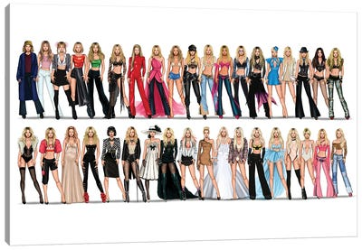 Britney Spears Videography Canvas Art Print