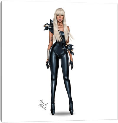 Lady Gaga - Poker Face Canvas Art Print