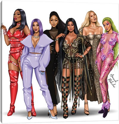 Modern Female Rappers Canvas Art Print