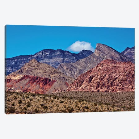 Red Rock Canyon, National Conservation Area, Nevada, USA Canvas Print #MHE18} by Michel Hersen Art Print