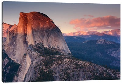 Half Dome As Seen From Glacier Point, Yosemite National Park, California, USA Canvas Print #MHE1