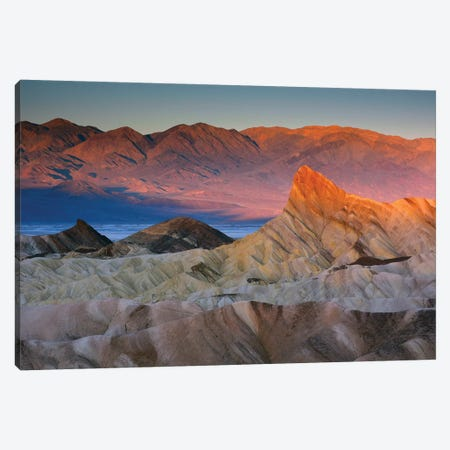 First Light Over Manly Beacon, Death Valley National Park, California, USA Canvas Print #MHE2} by Michel Hersen Art Print