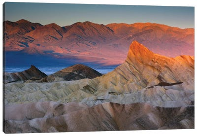 First Light Over Manly Beacon, Death Valley National Park, California, USA Canvas Print #MHE2