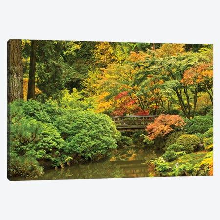 Autumn, Moon Bridge, Portland, Oregon, Usa Canvas Print #MHE5} by Michel Hersen Canvas Art