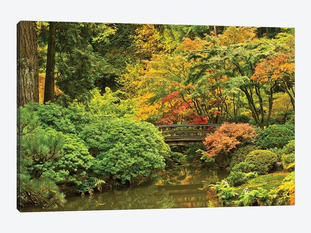 Autumn, Moon Bridge, Portland, Oregon, Usa by Michel Hersen 1-piece Canvas Art Print