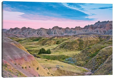 Badlands National Park, South Dakota, USA Canvas Art Print