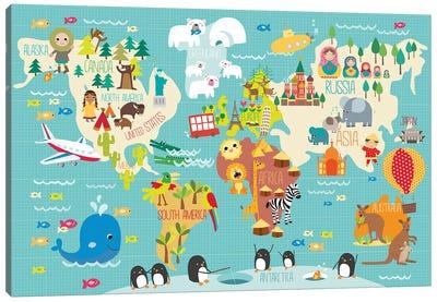 Children's World Map Canvas Art Print
