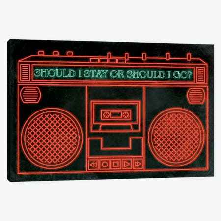 Should I Stay Canvas Print #MHI13} by 5by5collective Canvas Art Print
