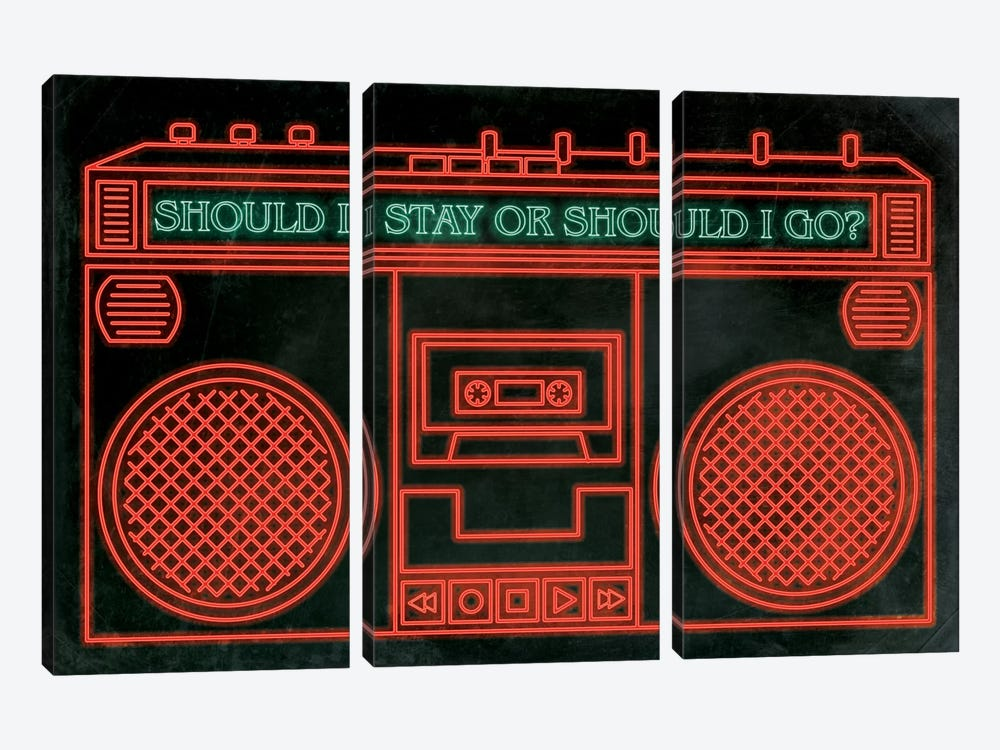 Should I Stay by 5by5collective 3-piece Canvas Art