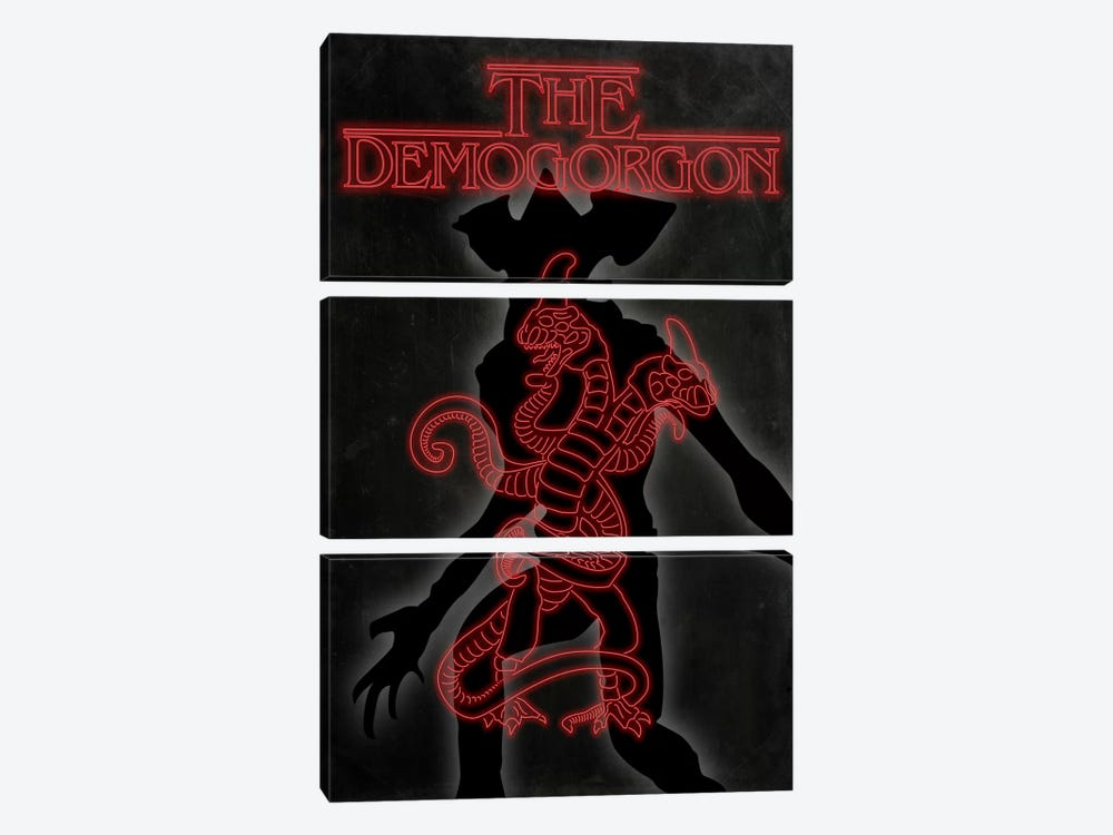 The Demogorgon by 5by5collective 3-piece Canvas Art Print