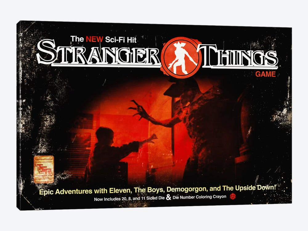Dungeons & Things by 5by5collective 1-piece Canvas Wall Art