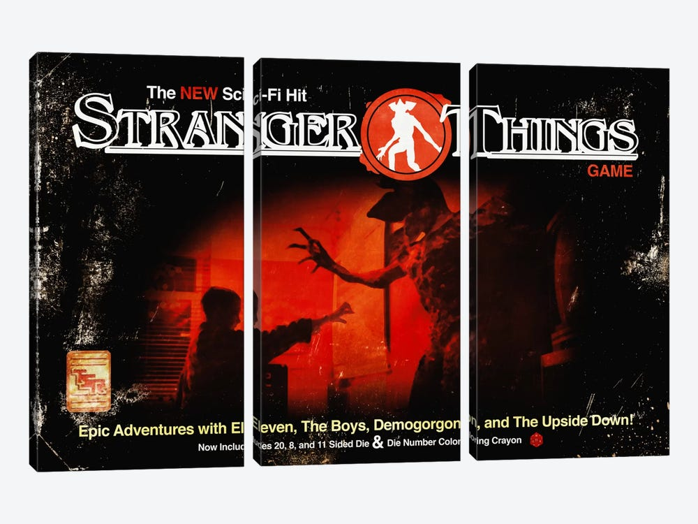 Dungeons & Things by 5by5collective 3-piece Canvas Artwork