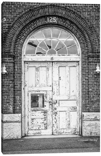 Boston Shipyard Doors   Canvas Art Print