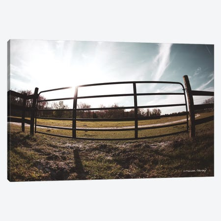 Farm Fence Canvas Print #MHL7} by Melissa Hanley Canvas Art Print