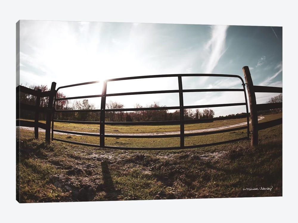 Farm Fence by Melissa Hanley 1-piece Canvas Artwork