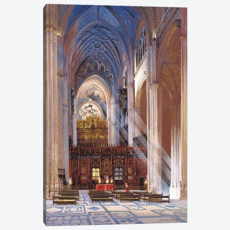 Sevilla Cathedral Canvas Print #MHM101} by Maher Morcos Canvas Wall Art