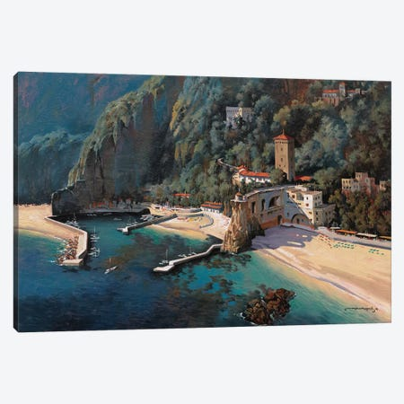 South Of Positano Canvas Print #MHM105} by Maher Morcos Canvas Art Print